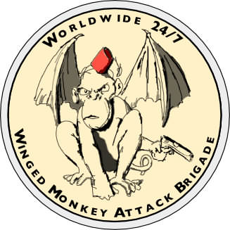 winged monkey attack brigade patch