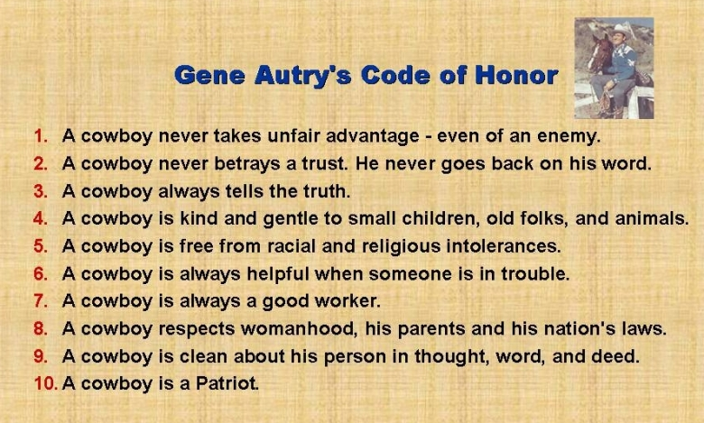 Gene Autry's Cowboy Code of Honor