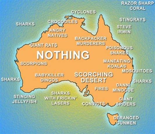 Australia not just an island but a hella scary one too