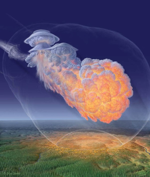 Artist's Conception of 1908 Tunguska Blast