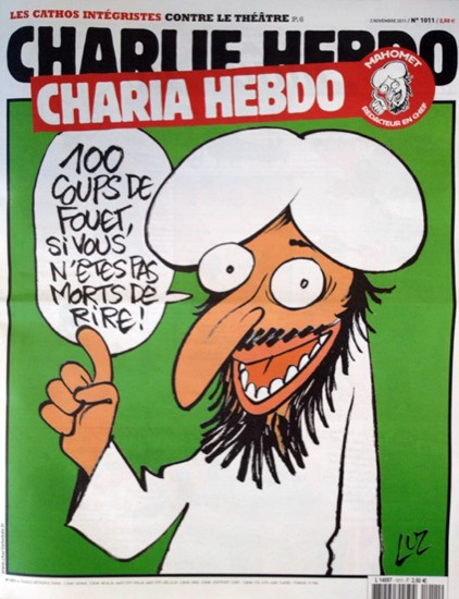 "Mohammed says ""100 lashes, if you don't die with laughter!"""